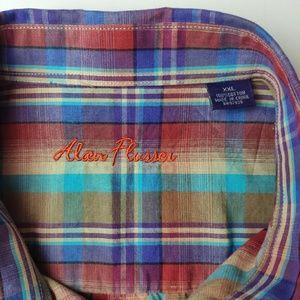 Alan Flusser Shirts - Alan Flusser Short Sleeve Button Up Shirt XXL